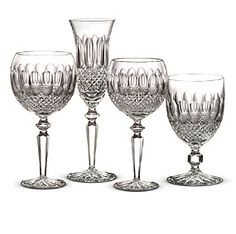 The complete line of Colleen Encore crystal stemware by Waterford is available at the Silver Superstore, Crystal Glassware, Waterford Crystal, Glass Crystal, Spode Woodland, Wine Glass, Glass Art, Wine Goblets, Champagne Glasses, Statues