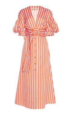 Get inspired and discover Silvia Tcherassi trunkshow! Shop the latest Silvia Tcherassi collection at Moda Operandi. Girls Night Dress, Modelos Fashion, Evening Dresses, Summer Dresses, Western Dresses, Classy Dress, Striped Dress, Hugo Boss, Pretty Dresses