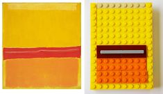 Rothko reinterpreted by lego. Adore this clever series by MOMA.
