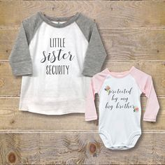 Big Brother Little Sister Shirts, New Big Brother, Baby Shower Gift, Big Brother Baby Sister, New Bi - Bosh Designs Sibling Shirts, Sister Shirts, Baby Shirts, Shirts For Girls, Big Brother Little Sister, Baby Sister, Little Sisters, Big Brother Gifts, Diy Baby Gifts