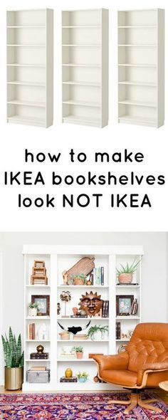 how to make ikea bookshelves look not ikea