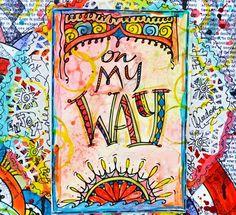"The Creative Studio / ""On My Way"" Layout by Keri Sallee"