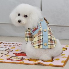 British Style Plaids Grids Checker Dog <font><b>Shirt</b></font> Lapel Costume Cat Puppy Clothes T-<font><b>shirt</b></font> Clothing For Pet Dogs <font><b>2</b></font> Color 6 <font><b>Size</b></font> Price: USD 3.69   United States