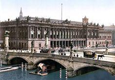 Berlin Börse mit Friedrichsbrücke um 1900