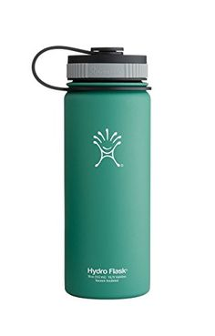 Hydro Flask Insulated Stainless Steel Water Bottle, Wide Mouth, 18-Ounce, Green Zen ** Visit the image link more details.