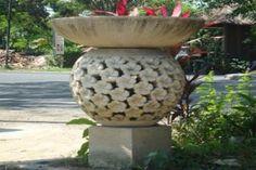 Concrete Garden Lamp