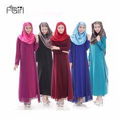 FGirl Long Muslim Dress Women Islamic Abaya Middle East Solid Long-sleeved Islamic Clothing Abayas for Women Clothes Turkey #Islamic clothing Muslim Dress, Islamic Clothing, Middle East, Clothes For Women, Turkey, Long Sleeve, Shopping, Dresses, Photos