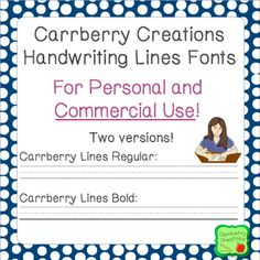 Handwriting Lines font for personal or commercial use. No letters, just lines. Just press any key to create handwriting space for your students! Handwriting Lines, Improve Handwriting, Handwriting Practice, Writing Lessons, Writing Resources, Increase Vocabulary, Commercial Fonts, Literacy Activities, Literacy Centers