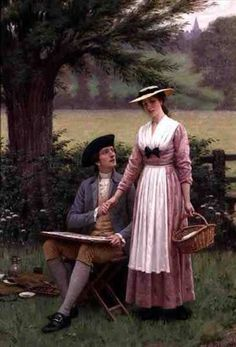 Edmund Blair Leighton, nel parco