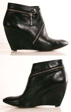 Sexy and edgy. Belle by Sigerson Boots. Heeled Boots, Bootie Boots, Ugg Boots, Dream Shoes, Cool Boots, Hot Shoes, Fashion Boots, Girl Fashion, Beautiful Shoes