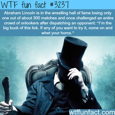 why lincoln is the most badass president of all time - WTF Facts Wtf Fun Facts, True Facts, Funny Facts, Funny Memes, Random Facts, Crazy Facts, Strange Facts, Funny Tweets, The More You Know