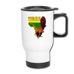 This Proud To Be An African Travel  Mug is available only from PersonalizedSouvenirs.com.