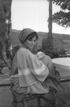 Claudia Cardinale, in Sicily filming The Leopard