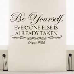 Oscar Wild Quote Be Yourself Vinyl Sticker Wall Art