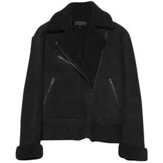 Pre-owned Rag & Bone Fur Coat (4.105 DKK) ❤ liked on Polyvore featuring outerwear, jackets and black