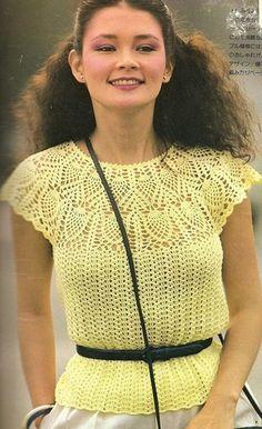 Ажурная кофточка Crochet Top
