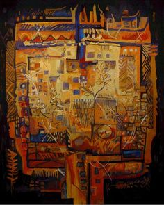 Interior Landscapes. Hand-woven Tapestry by Susqya Williams