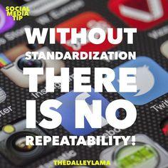 Feeling busy? Maybe you need to standardize! ... #socialmediatip #entrepreneur #socialmedia #marketing #TheDalleyLama