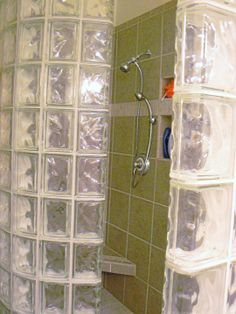 Tile shower with glass blocks by Darrow's CarpetsPlus COLORTILE, Stanwood, WA. (360) 629-9604 www.carpetstanwood.com www.facebook.com/darrows.carpets Glass Blocks, Carpets, Showers, Shower Ideas, Tile, Bathtub, The Incredibles, Facebook, Design