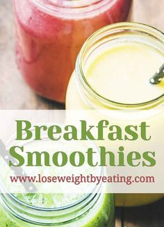 Try these 10 Healthy Breakfast Smoothies for weight loss like Peaches & Cream Oatmeal, Berry Banana, Coconut Mango, Banana Oatmeal and more! via @tonetiki