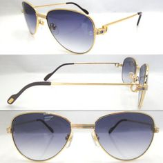 e96abb4d483f 2011 Cheap Cartier 1156496 Sunglasses in Gold with Gray lens Cartier  Sunglasses