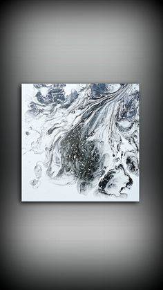 Black and White Painting 10x10 Ready to Ship Abstract Painting