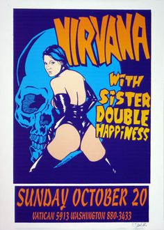 Nirvana poster by Uncle Charlie