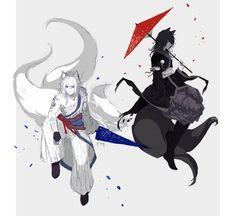 Mirror kitsune by Pinlin