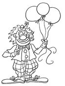 Clown For Birthday party Coloring page