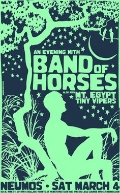GigPosters.com - Band Of Horses - Mt. Egypt - Tiny Vipersss