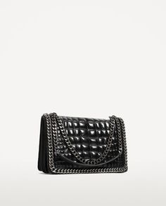 Image 3 of CROSSBODY BAG WITH EMBOSSED CHAIN from Zara