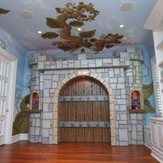 Pastoral Beanstalk Mural and Castle Gate and Luxury Baby Cribs in Baby Furniture : Ultimate Posh at PoshTots