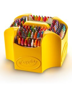 Proudly display your Crayola Crayons with the Ultimate Crayon Collection! This multi-tiered, four-sided case lets you organize and find crayons easily! With 152 colors to choose from, including glitte Crayon Days, Classroom Supplies, Art Classroom, Preschool Supplies, Arts And Crafts Supplies, Art Supplies, Crayon Organization, Crayon Storage, Monster High Dolls