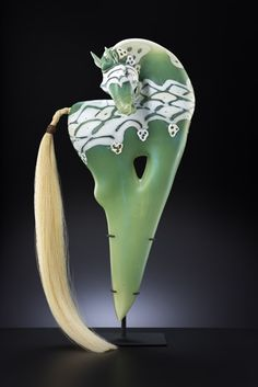 Carosell by Shelley Muzylow - blown glass sculpture - Blue Rain Gallery / Santa Fe New Mexico