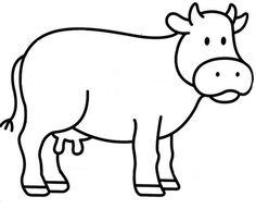 gabarit vache Art Drawings For Kids, Drawing For Kids, Animal Drawings, Animal Crafts For Kids, Toddler Crafts, Art For Kids, Farm Crafts, Preschool Crafts, Farm Lessons
