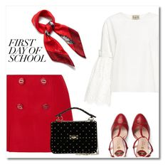 """""""Pretty girl"""" by anduu19 on Polyvore featuring Sea, New York, Prada, Mulberry, Gucci and Valentino"""