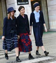 This is not a street-style shot ~ this is just three Amish teens on Rumspringa.
