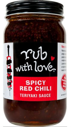 Spicy Red Chili Sauce | Ripe pineapple, toasted sesame and spicy red chilies combine for a teriyaki with a discreet blast of heat. Try this on skewers on the grill, in place of barbecue sauce on pork or as a spice finish to a quick stir-fry. Ingredients: Water, sugar, soy sauce (water, wheat, soybeans, salt), brown sugar, Chili paste (chili, salt, distilled vinegar), rice vinegar, garlic, ginger, pineapple juice concentrate, cornstarch, sesame oil, toasted sesame seeds, chives, star anise.