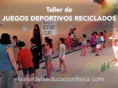 Juegos con material reciclado en educación física