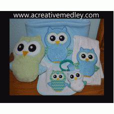 Owl Softie AND Applique embroidery design set