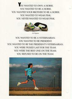 "ShoeGirl Corner: ""You Were Born a Daughter"" Famous Nike Ad"