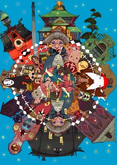 i love studio ghibli films, they make me happy. and since i am new fan, i still have a lot of catching up to do so please feel free to submit everything & anything ghibli! Hayao Miyazaki, Studio Ghibli Art, Studio Ghibli Movies, Personajes Studio Ghibli, Chihiro Y Haku, Castle In The Sky, Howls Moving Castle, Spirited Away, My Neighbor Totoro