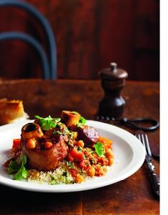 Curtis Stones Moroccan osso buco with chickpeas and gremolata. Has plenty of delicious spices and is suppose to be the best Osso Buco recipe, would love to try this!
