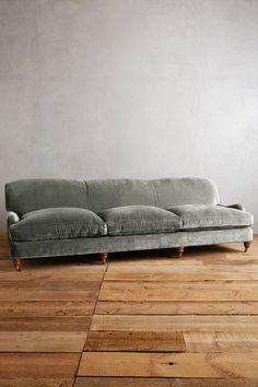 Slub Velvet Glenlee Grand Sofa, Landon - anthropologie.com