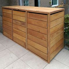 Garden: Solutions to get rid of that ugly green box - Garden: Solutions to get rid of that ugly green box Garbage Can Shed, Garbage Storage, Storage Bins, Bin Store Garden, Box Garden, Bin Shed, Outside Storage, Outdoor Storage, Backyard Landscaping