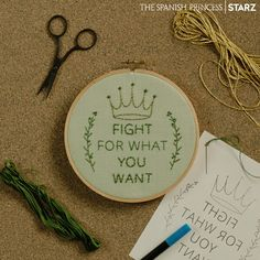 Enjoy this dose of DIY embroidery inspiration from #TheSpanishPrincess premiering Sunday, May 5 on the #STARZ App. What quotes will you be creating?
