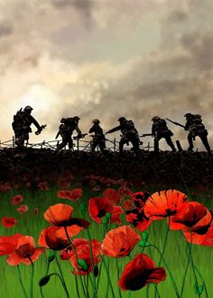 For the Fallen They shall grow not old, as we that are left grow old: Age shall not weary them, nor the years condemn. At the going down of the sun and in the morning, We will remember them. Ww1 Art, Remembrance Day Poppy, Ww1 Soldiers, Armistice Day, Military Tattoos, Army Tattoos, Poppies Tattoo, Anzac Day, Lest We Forget