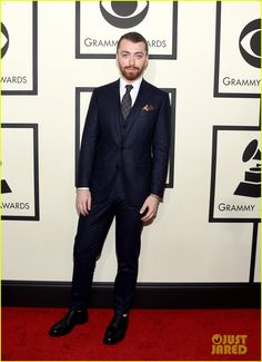 Sam Smith Gives Two Big Thumbs Up at the Grammys 2016!: Photo #929646. Sam Smith puts on his finest for the red carpet at the 2016 Grammy Awards held at the Staples Center on Monday (February 15) in Los Angeles.    The 23-year-old entertainer's…