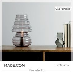 New #glass #table #lamp #OneHundred designed by @marco_acerbis_architetto for @madedotcom is now available on their British on line store #shopping #lighting #lightingdesign  #gift #uk #italy #interiordesign #cool #smallisbeautiful