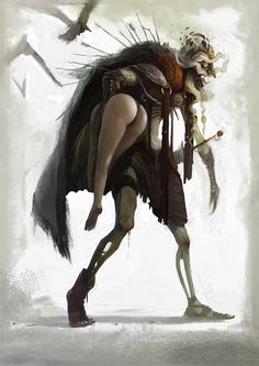 Koschei- Slavic myth: an old, skeletal, immortal man who abducts the hero's wife. His soul is inside a needle, which is in an egg, which is in a duck, which is in a hare, which is in an iron chest, which is buried under a green oak tree, which is on the island of Buyan. As long as his soul is safe, he cannot die. If the chest is dug up and opened, the hare will bolt away; if it is killed, the duck will emerge and try to fly off. Anyone possessing the egg has Koschei in their power. He…